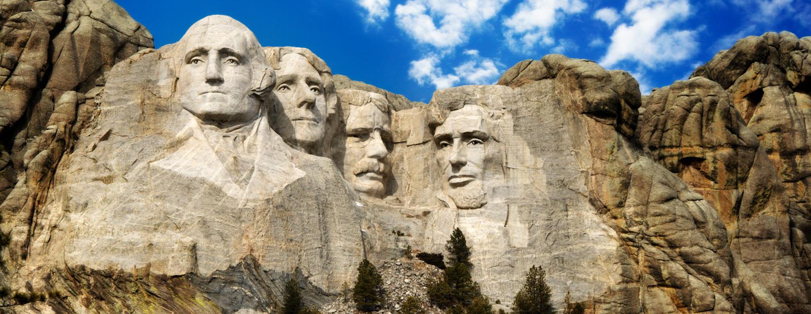 Mont Rushmore - tableau des héros
